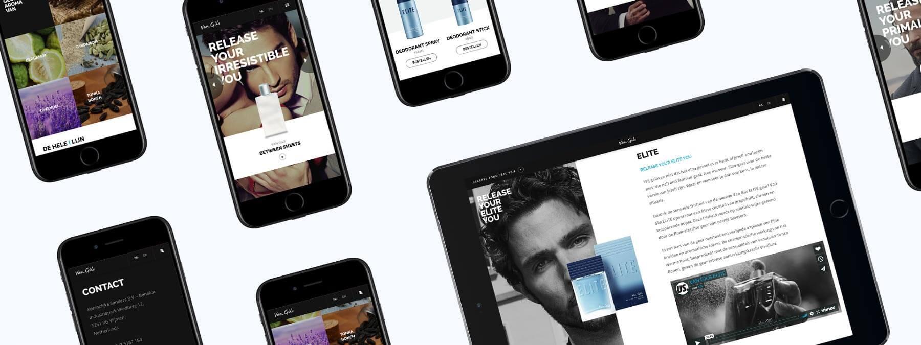 Website ontwikkeling voor Van Gils Parfums uit Vlijmen