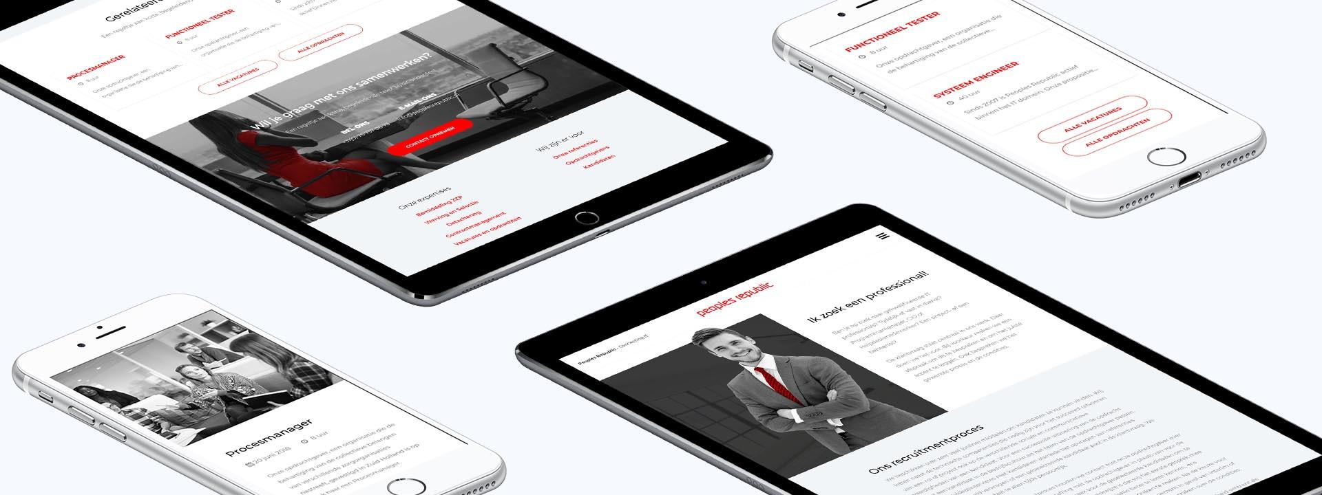 Carerix website ontwikkeling voor Peoples Republic uit Breda