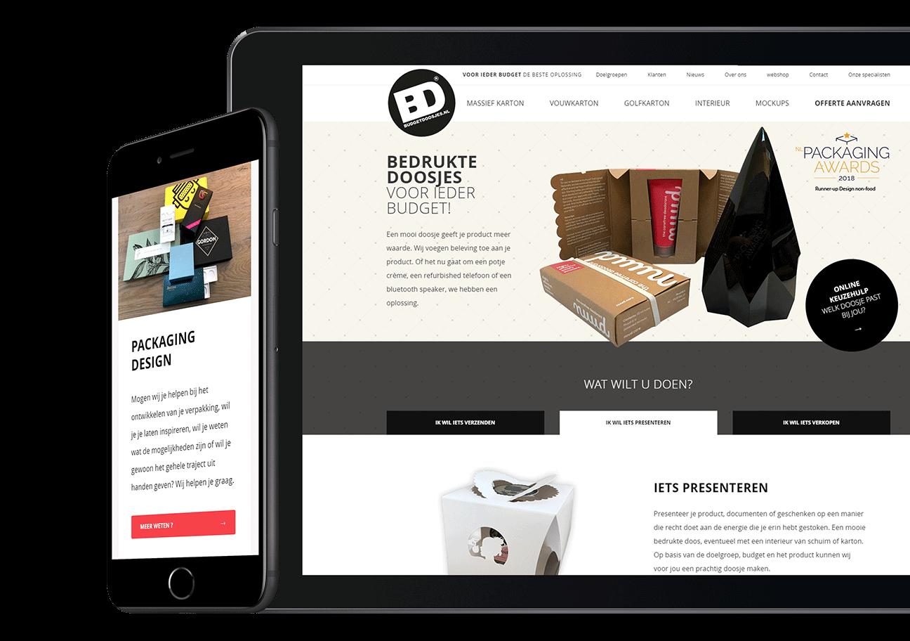 Website ontwikkeling voor Budgetdoosjes uit Ulvenhout