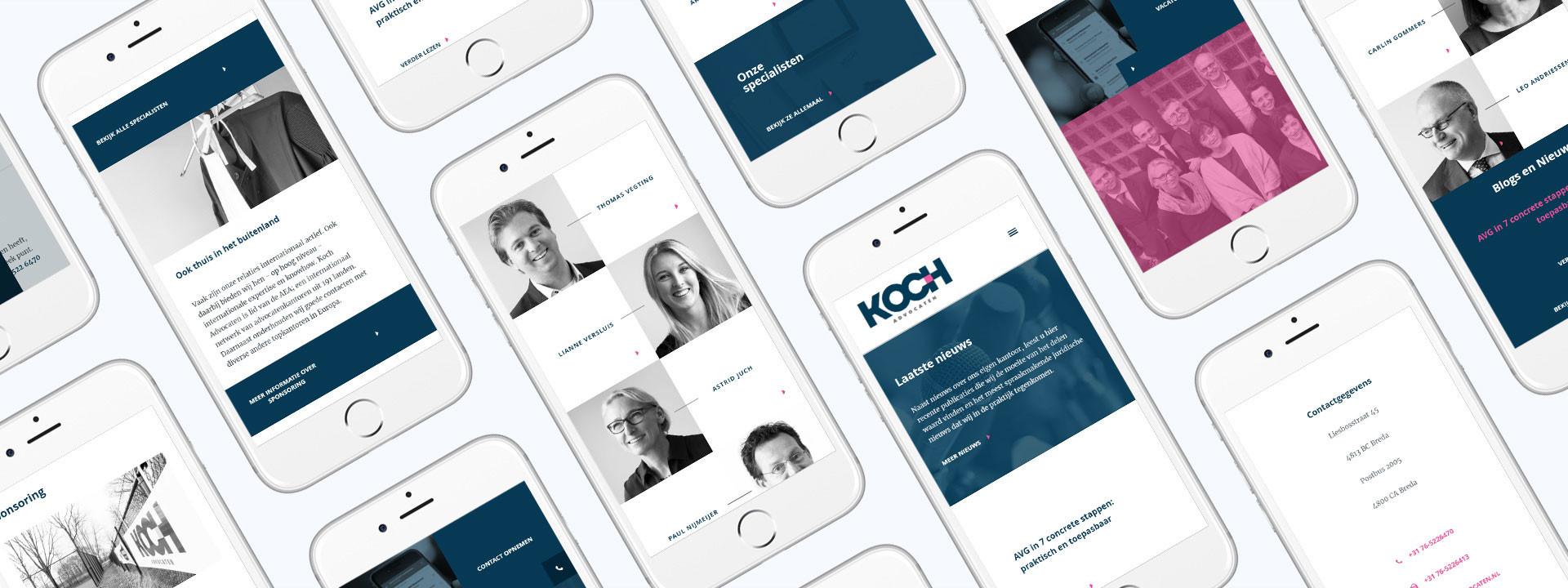 Website ontwikkeling voor Koch Advocaten uit Breda