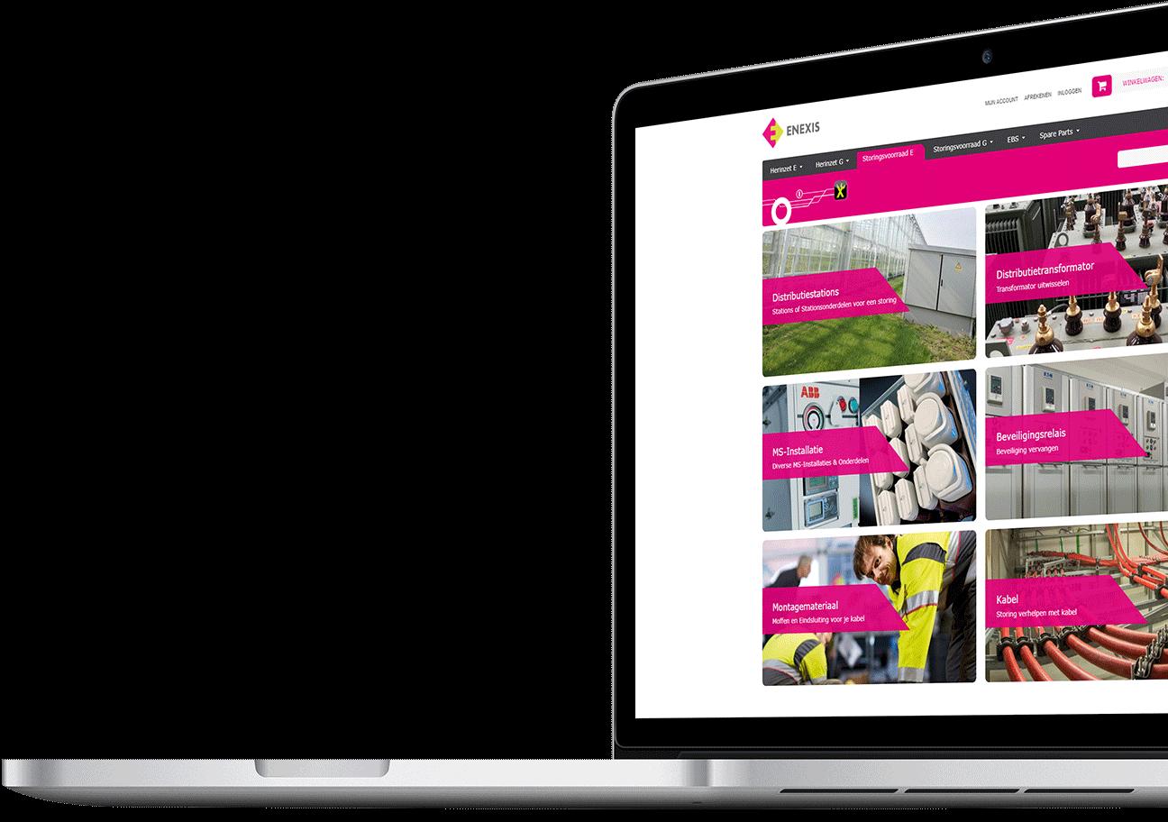 Webshop ontwikkeling voor Enexis Herinzet Shop uit Veldhoven