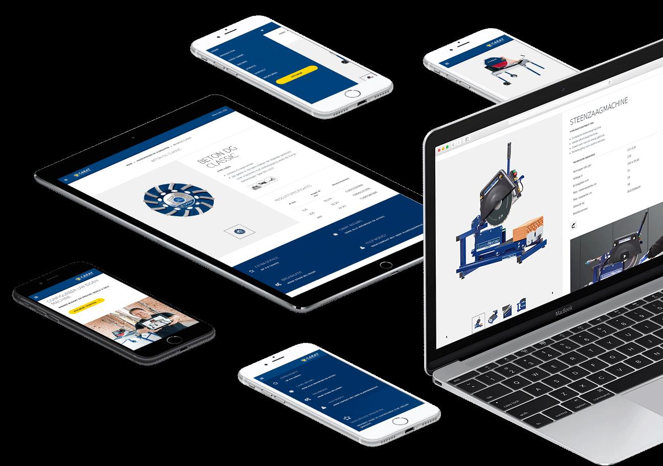 Website en webshop ontwikkeling voor Carat Nederland uit Breda