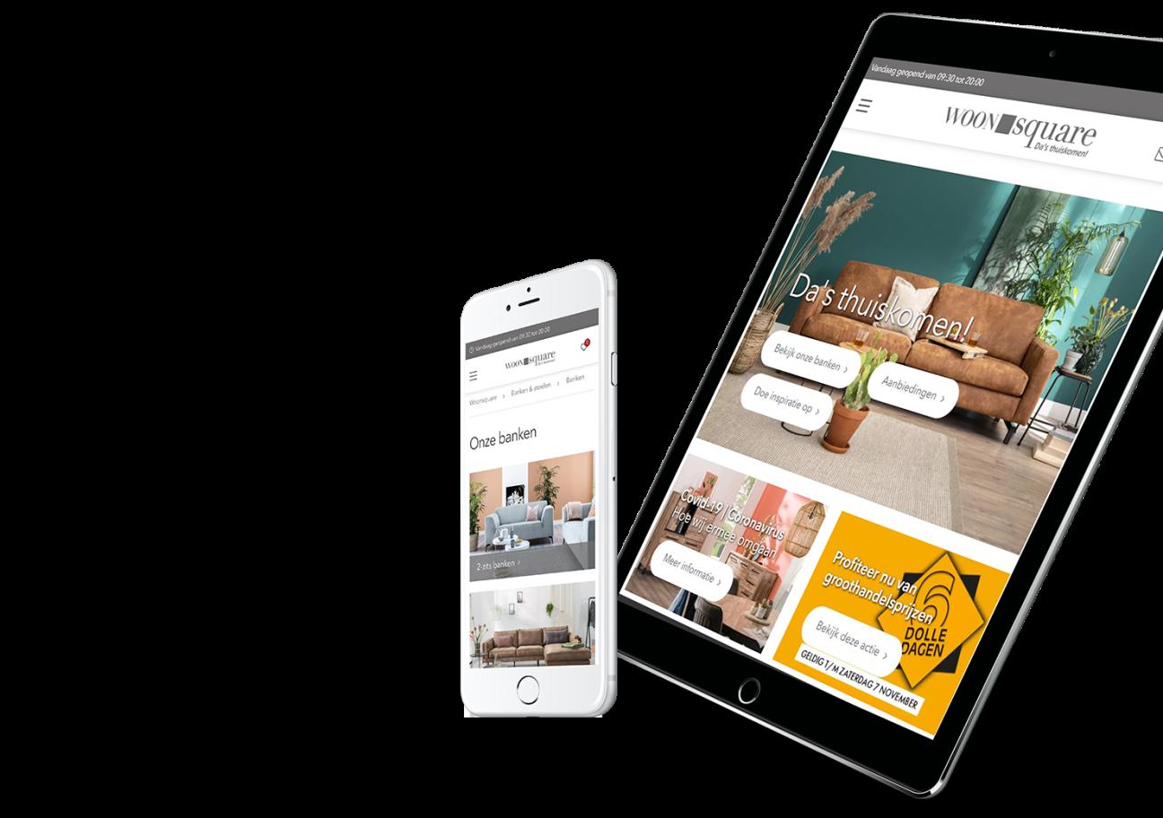 Website ontwikkeling voor Woonsquare uit Almere en Rijen