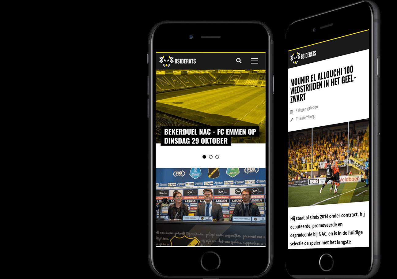 Website ontwikkeling voor het B-SideRats team uit Breda!