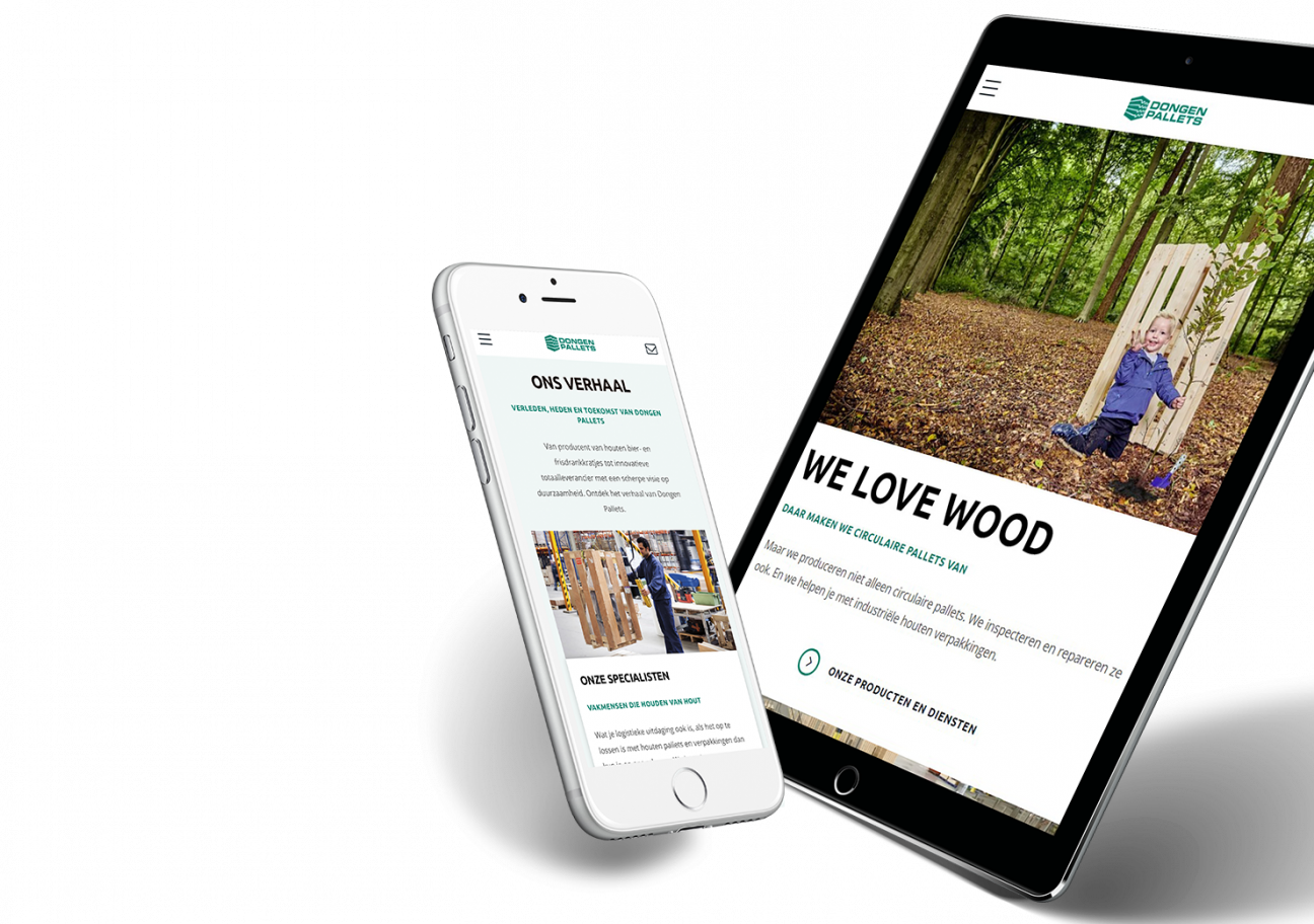 Website ontwikkeling voor Dongen Pallets uit Dongen
