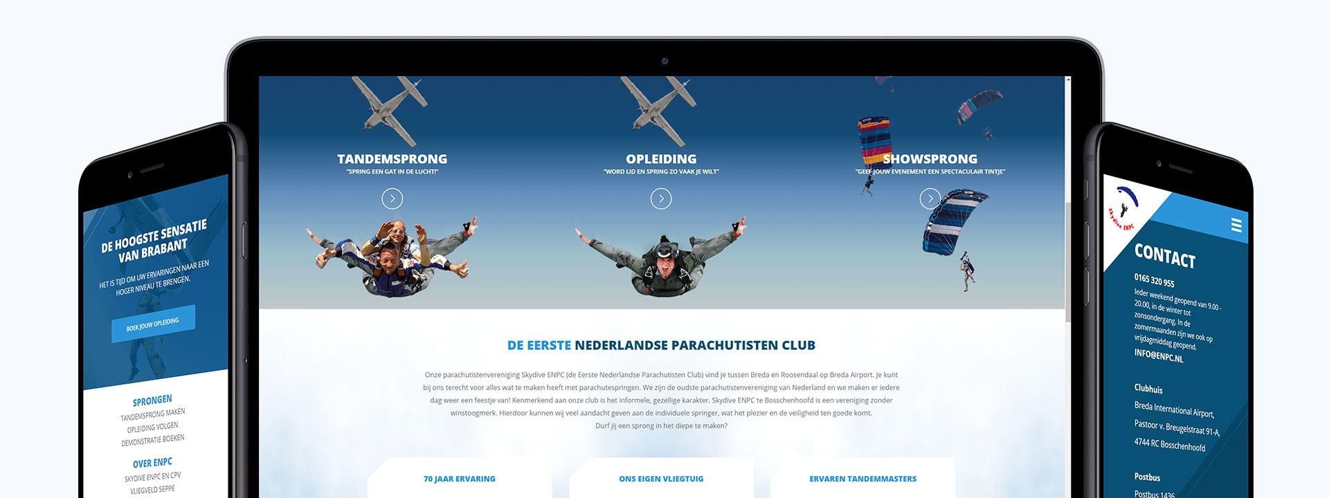 Ticketing website ontwikkeling voor Skydive ENPC uit Breda