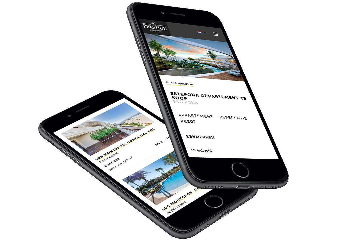 Website ontwikkeling voor Prestige Estates uit Marbella