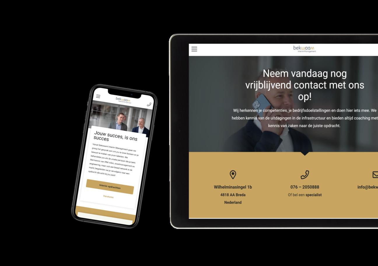 Website ontwikkeling voor Bekwaam Interim Management