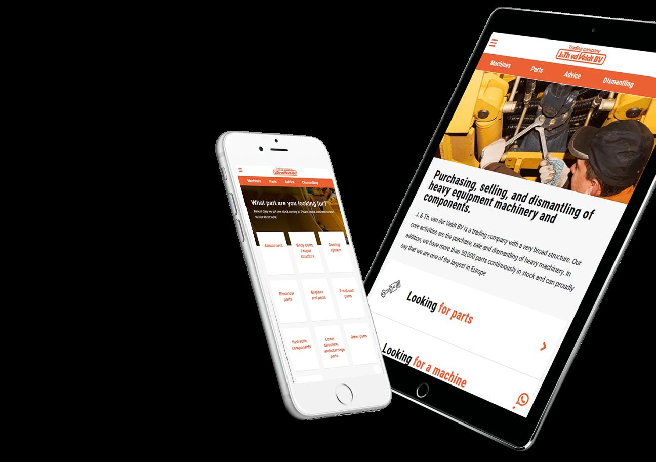 Website ontwikkeling voor J. & Th. van der Veldt uit Wouw