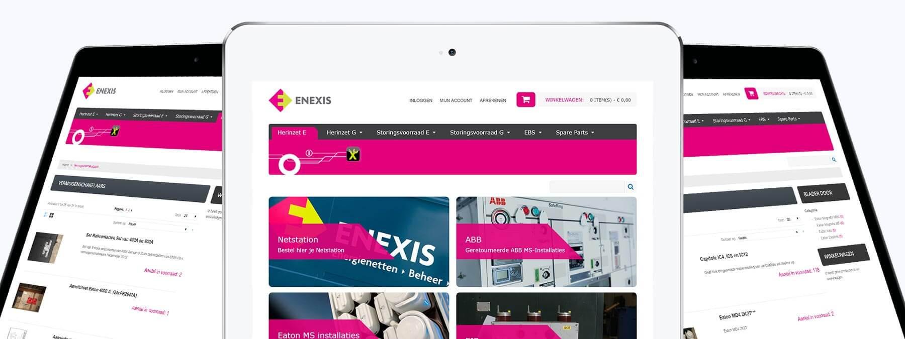 Webshop ontwikkeling voor Enexis Herinzet uit Veldhoven