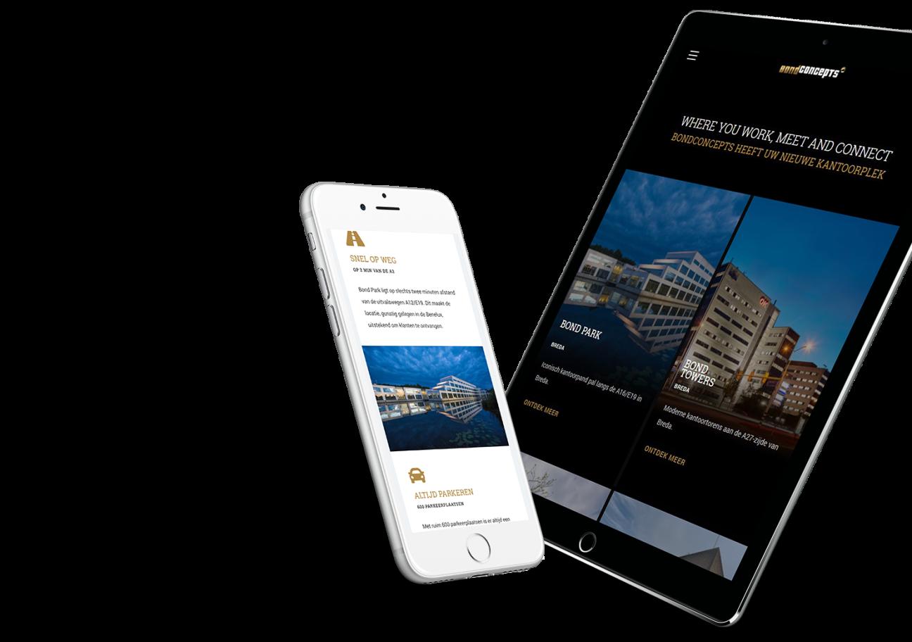 Website ontwikkeling voor Bond Concepts uit Breda.