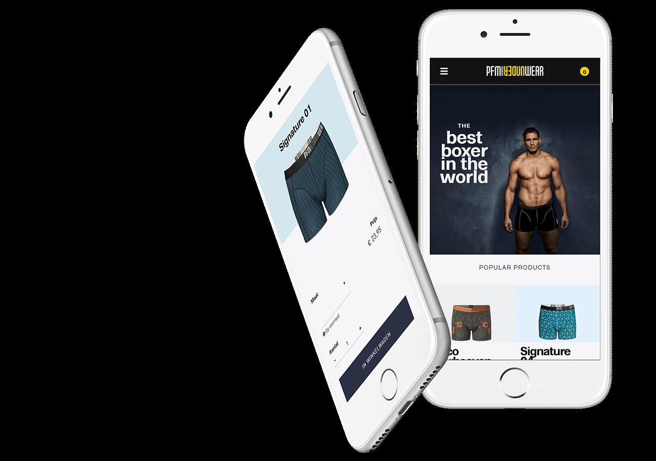 Webshop ontwikkeling voor PFM Underwear uit Breda