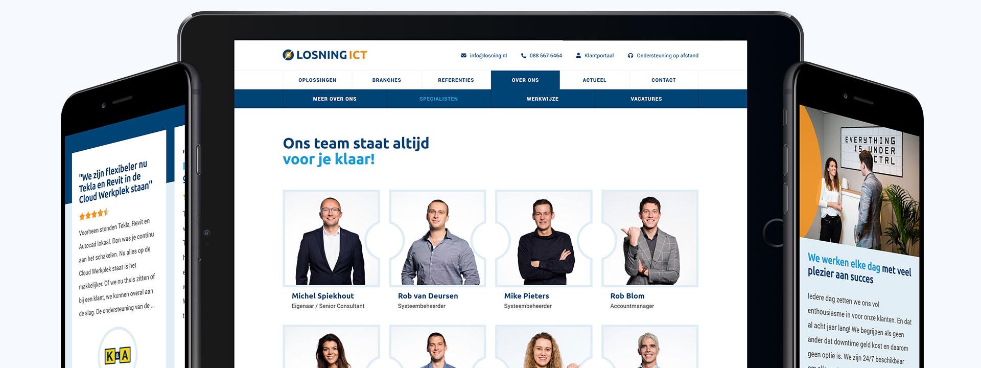 Website ontwikkeling voor Losning ICT uit Hendrik-Ido-Ambacht