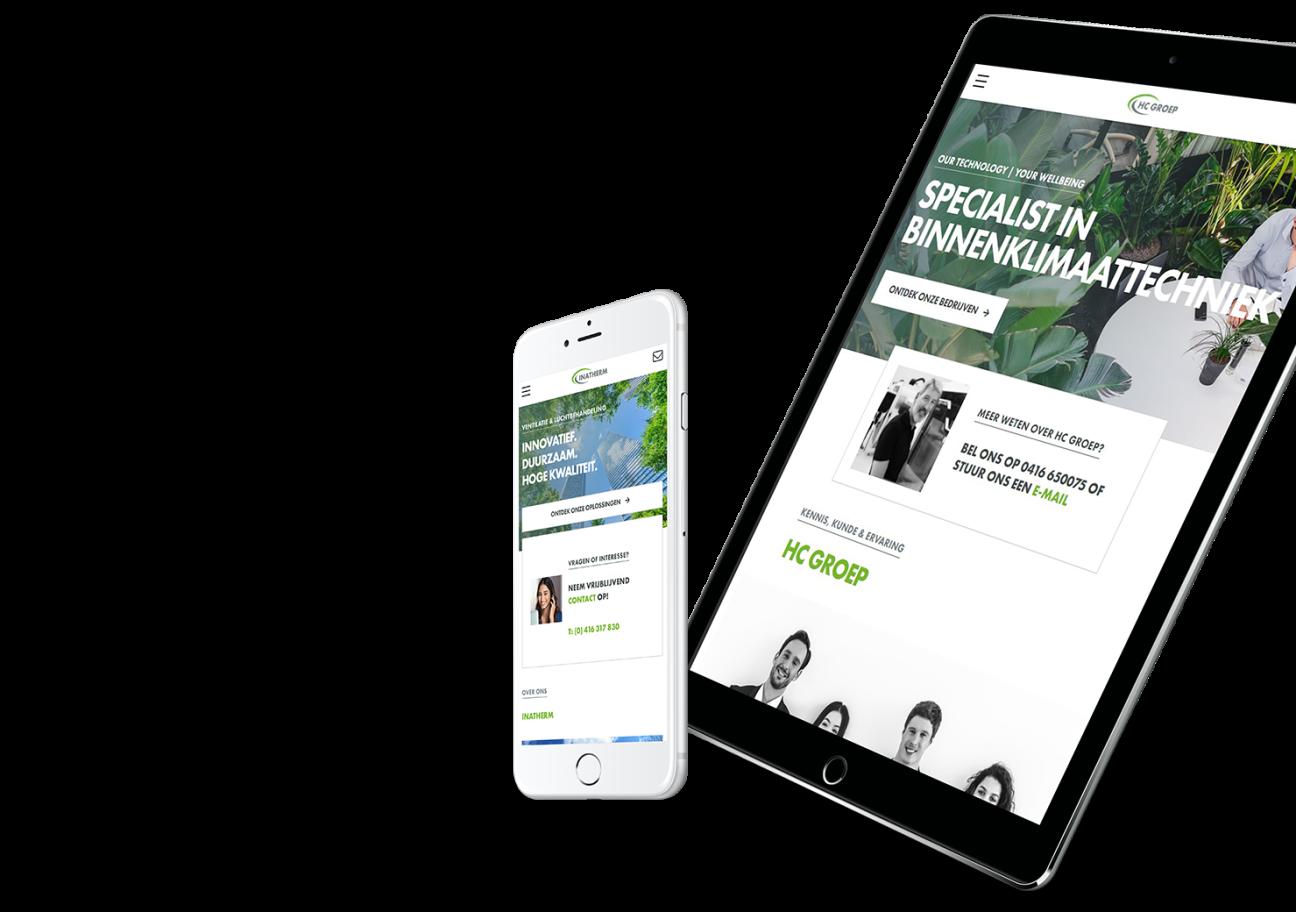 Website ontwikkeling voor HC Groep uit Waalwijk.